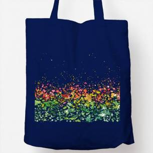 Bolsa con motivo de gotas de colores