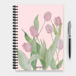 cuaderno superprofe tulipanes