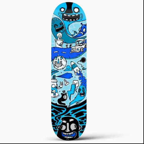 skate azul