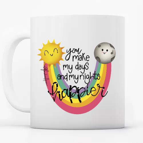 Taza diseño Happy Rainbow